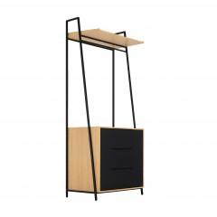 Vestiaire commode 3 tiroirs noir et beige -  HENRY 900