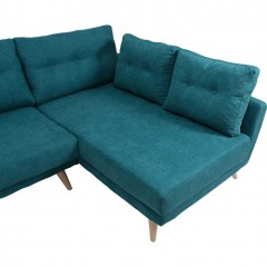 Canapé d'angle gauche en tissu confortable - ICONE