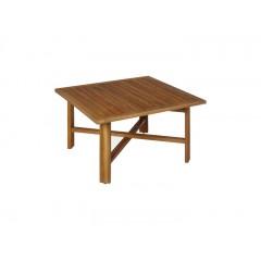Table basse carré 70x70 cm en acacia - ESCALET 626