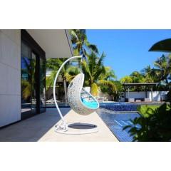 Fauteuil design de jardin suspendu blanc - EGG