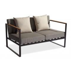 Canapé de jardin en aluminium gris anthracite - CAPRI