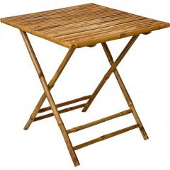 Table de jardin carrée pliante 2 personnes en bambou - NIMES 729
