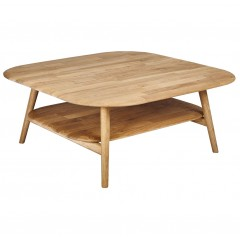 Grande table basse en chêne massif - vue de face - PAMPA 760