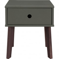 Table de chevet en bois vert avec 1 tiroir - SACHA 300