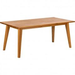 Table de jardin rectangulaire 8 à 10 places en bois d'eucalyptus massif - LAVANDOU 605