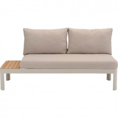 Canapé de jardin modulable beige de face - PORTALS 676
