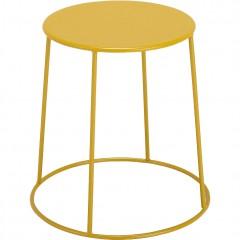 Table d'appoint ronde en métal jaune et pieds filaires diamètre 35 cm - IKARIA 670