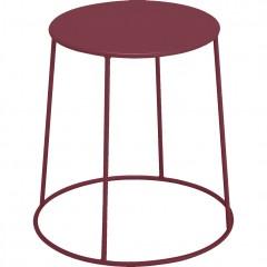 Table d'appoint ronde en métal bordeaux et pieds filaires diamètre 35 cm - IKARIA 677