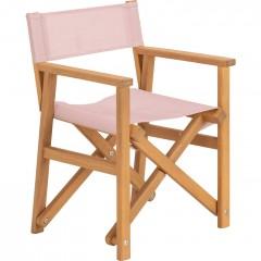 Chaise de jardin enfant pliable rose en acacia - LUZ