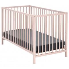 Lit pour bébé en hêtre massif rose grège - CAMILLE 671