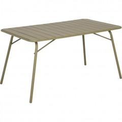 Table de jardin rectangulaire pliante en métal vert kaki 4 à 6 places - SOURIS 063