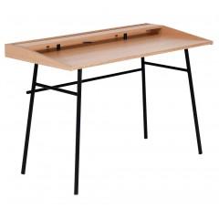 Bureau plaqué chêne et métal noir - IRATY 929