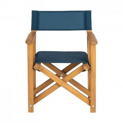 Chaise de jardin enfant pliable bleu en acacia - LUZ 125