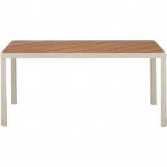 Table de jardin plateau en bois et pied métal - ALEP 889