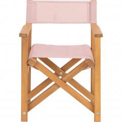 Chaise de jardin régisseur pliable rose en acacia - LUZ 089