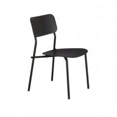Chaises de jardin au design minimaliste noir - MATIAS 620