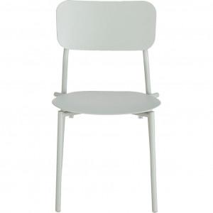 Chaise de jardin au design minimaliste vert - vue de face - MATIAS 644