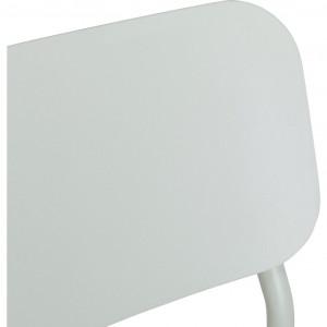 Chaise de jardin au design minimaliste vert - zoom dossier - MATIAS 644