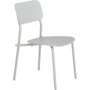 Chaise de jardin au design minimaliste vert - vue de côté - MATIAS 644