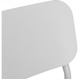 Chaise de jardin au design minimaliste gris - zoom dossier - MATIAS 668