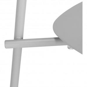 Chaise de jardin au design minimaliste gris - zoom pied - MATIAS 668