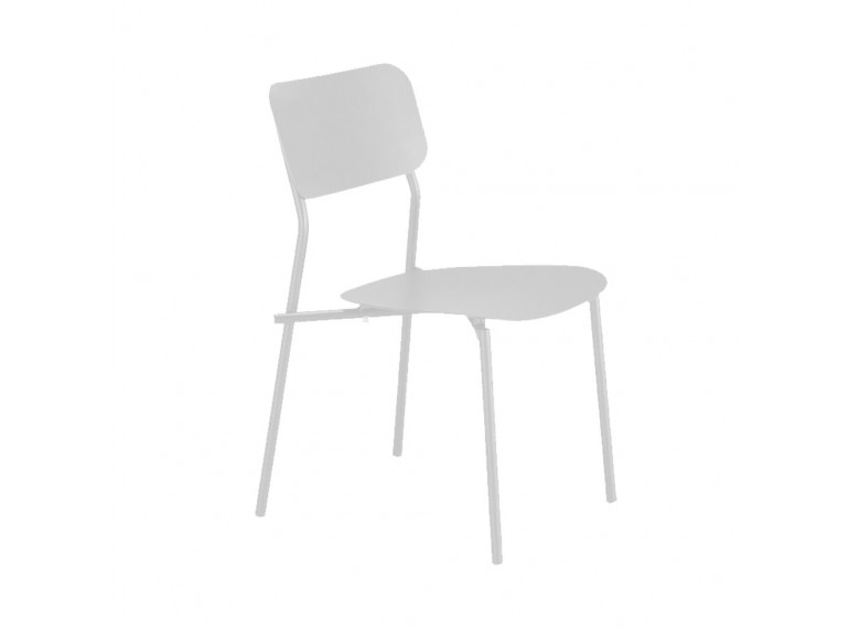 Chaise de jardin au design minimaliste gris - vue de côté - MATIAS 668