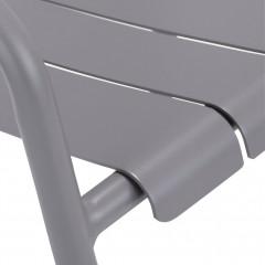 zoom assise - Chaise de jardin empilable en aluminium avec accoudoirs gris - CENOZA 582