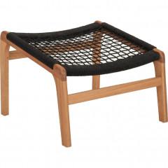 Repose-pieds chaise naturel et cordage noir - GAOU 568