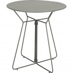 Petite table de jardin ronde en métal vert diamètre 60 cm - ALEXIA 287
