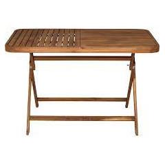 Table de jardin pour rectangulaire pliante en acacia L120 cm - YOUK 940