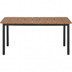 Table de jardin en bois et pied aluminium - MASCA 481