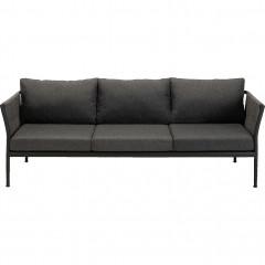 Canapé de jardin en corde et aluminium - KONYA 686