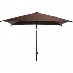 Parasol rectangulaire avec mat inclinable marron - PITCHOUN 323