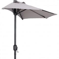Demi-parasol avec manivelle gris vésuve (grand modèle) - MONGEDO 304