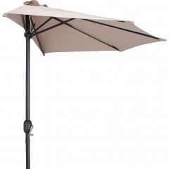 Demi-parasol avec manivelle beige (grand modèle) - MONGEDO 706