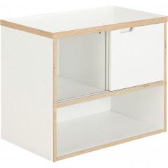 Meuble sous vasque simple suspendu en bois blanc - MUGEL 487
