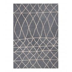 Tapis en viscose gris et blanc 160x230cm - ETHNIC 498