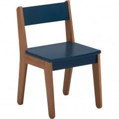 Chaise pour enfant bleu foncé en acacia et MDF  - RAPHAEL 229