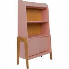 Bibliothèque en acacia et MDF pour enfant rose - RAPHAEL 966