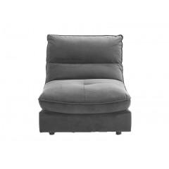 Chauffeuse velours canapé modulable gris - KOK