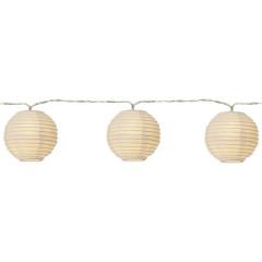Guirlande lumineuse en boules de papier L3.10 m - vue sur fond blanc - GUILY