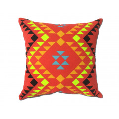 Coussin motif tribal rouge 45*45 - RED TRIBE
