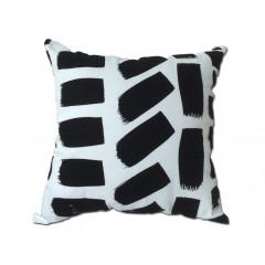 Coussin noir et blanc 45*45 -  RECTANGLE