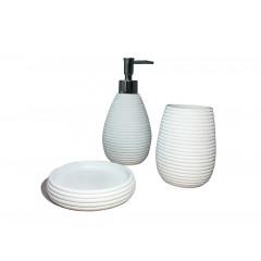 Set 3 accessoires salle de bain blanc - COVENTRY