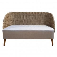 Canapé de jardin 2 places imitation rotin et coussin déperlants - ANGO 702