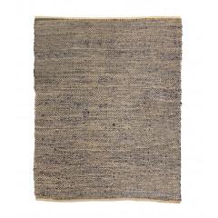 Tapis tressé bleu en jute 160 x 230 - AARON 873