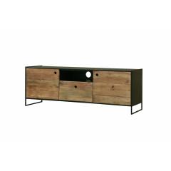 Meuble TV en métal et en pin recyclé - ORIGIN 2
