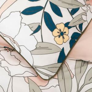 Housse de couette 140X200cm et une taie d'oreiller - ZOOM motif tissu de qualité  - ARBOUSIER 065