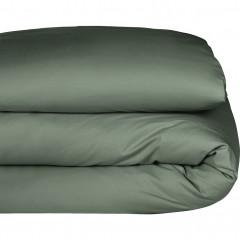 Housse de couette en coton vert cèdre 140x200cm  - CALANQUE 382