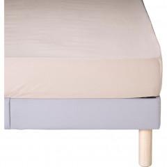 Drap-housse en coton beige 160x200cm bonnet 30 cm - CALANQUES 486